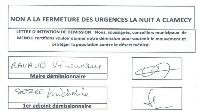 Intentions et démissions